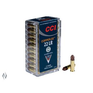 CCI COPPER 1850FPS 22LR 21GR HP 50PKT