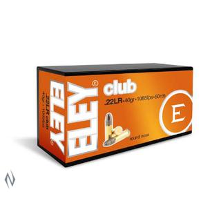 ELEY CLUB 1085FPS 22LR 40GR RN 50PKT