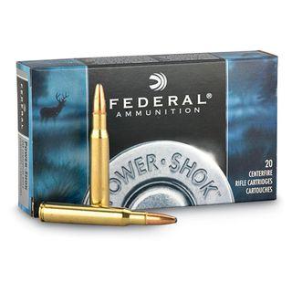 FEDERAL POWER-SHOK 223REM 55GR SP 20PKT