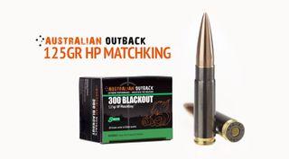 AUSTRALIAN OUTBACK 300 BLACKOUT 125G SIERRA HP MATCHKING 20PKT