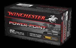 WINCHESTER POWER POINT 1280FPS 22LR 40GR HP 500PKT