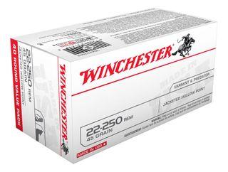 WINCHESTER USA VALUE PACK 22-250REM 45GR JHP 40PKT
