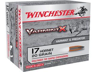 WINCHESTER VARMINT X 17HORNET 20G 20PKT