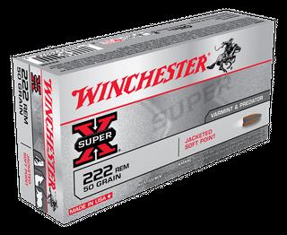 WINCHESTER SUPER X 222REM 50GR PSP 20PKT