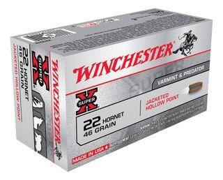 WINCHESTER SUPER X 22HORNET 46GR HP  50PKT