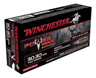 WINCHESTER POWER MAX BONDED 30-30WIN 150GR PHP 20PKT