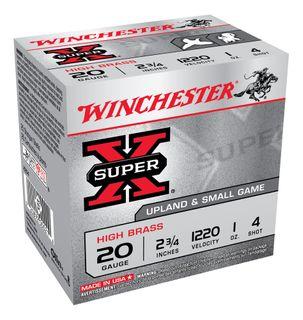 WINCHESTER SUPER X 1200FPS 20GA 4  25PKT