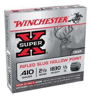 WINCHESTER SUPER X RIFLED SLUG 2.5IN 1830FPS 410GA 6GR 5PKT