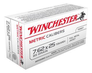WINCHESTER USA VALUE PACK 7.62X25 TOKAREV 85GR FMJ  50PKT