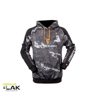 HUNTERS ELEMENT TUNGSTEN HOODIE DESOLVE BLAK