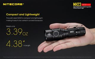 NITECORE MH23 1800 LUMENS USB CABLE HOLSTER