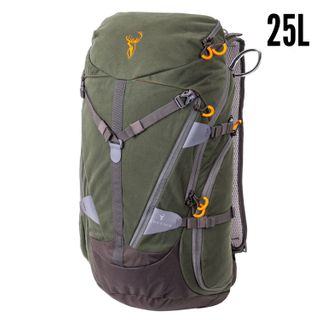 HUNTERS ELEMENT CONTOUR PACK 25L RIFLE SCABBARD FOREST GREEN