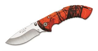 BUCK FOLD OMNI HUNT DROP BLADE MOSSY OAK KNIFE