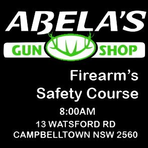 SATURDAY 5TH DECEMBER 10:00AM SAFETY COURSE ABELAS