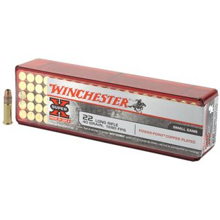 WINCHESTER SUPER X 22LR PLATED HOLLOW POINT 40GR 100PKT