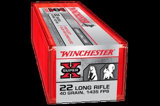 WINCHESTER SUPER X HYPER VELOCITY 1435FPS 22LR 40GR HPCP 100PKT
