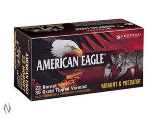 FEDERAL AMERICAN EAGLE 22 HORNET 35GR TIPPED VARMINT