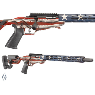 RUGER PRECISION RIMFIRE 22LR 18IN 10 SHOT USA FLAG PINNED