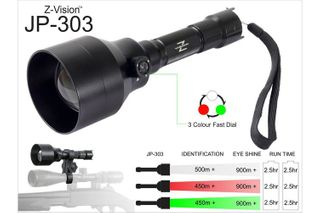 Z-VISION 3 IN 1 TORCH 3 LED COLOURS