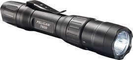 PELICAN TORCH 7600 LED RECHAGABLE BLACK 944 LUM 2XCR123