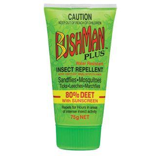 BUSHMAN PLUS DRYGEL 80% DEET, SUNSCREEN 75G