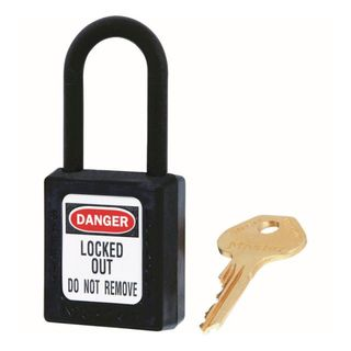 Master 0406 Zenex Safety Padlock U/Reg Black