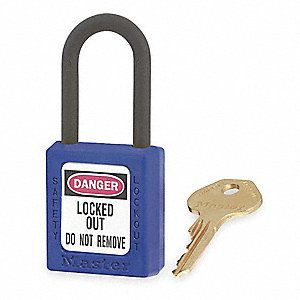 Master 0406 Zenex Safety Padlock U/Reg Blue