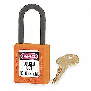 Master 0406 Zenex Safety Padlock U/Reg Orange