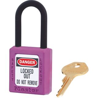Master 0406 Zenex Safety Padlock U/Reg Purple