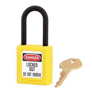 Master 0406 Zenex Safety Padlock U/Reg Yellow