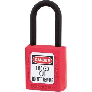 Master 0406 Zenex Safety Padlock U/Reg Red KA2