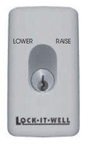 EZY Oval Key Switch - Spring Rtn Centre - L/C