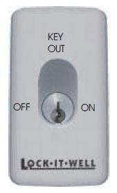 EZY Oval Key Switch On/Off - L/C