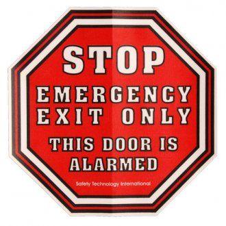 STI Alarm Warning Sticker L6400