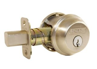 Schlage B60 Single Cyl & Turn Deadbolt SCP