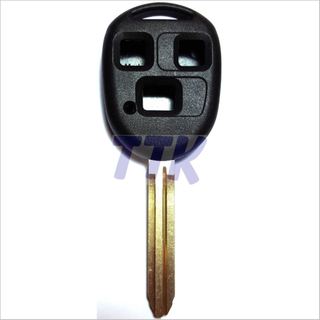 Toyota TOY43 Key 3 Button Shell H/Duty Uncut