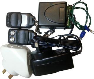 Garage Door Remote Kit with Power Supply & Adaptor