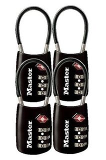 Master 4688 TSA Comination Cable Lock - 4 Pack