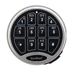 SecuRam Safelogic Basic Keypad - Chrome