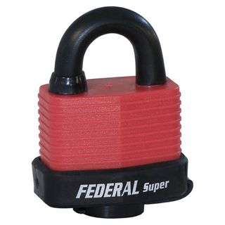 Federal 803 Weather Proof Padlock - Red