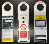 Scaffold Tag Kits - Includes 10 x Holders 20 x Cards 1 x Pen