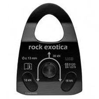 Rock Exotica Machined Rescue Pulley Black Single [P22B]