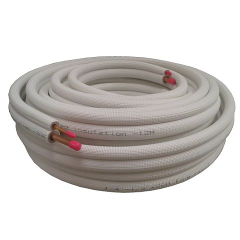 1/4 & 3/8 PAIR COIL White 20m Roll