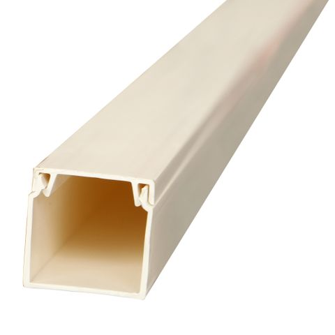 25 x 25mm x 4m White Duct