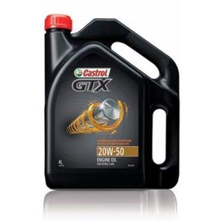 CASTROL GTX ENGINE OIL 15W-40 4L EA