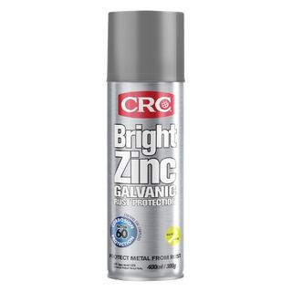CRC BRIGHT ZINC GALV RUST PROTECTION AEROSOL 400ML EA