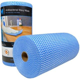 ANTIBACTERIAL WAVY WIPES (MPH27370) BLUE 300 X 500MM ROLL/90 SHEETS