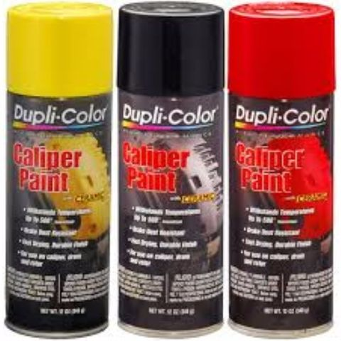 DUPLI-COLOR CALIPER PAINT SATIN BLACK AEROSOL 340G EA
