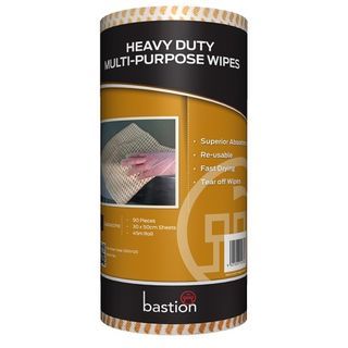BASTION HEAVY DUTY WIPES CAPPUCCINO 300 X 500MM ROLL/90 SHEETS