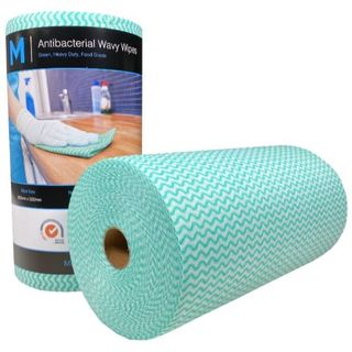 BASTION HEAVY DUTY WIPES GREEN 300 X 500MM ROLL/90 SHEETS